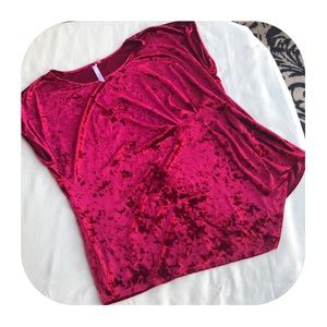 NY Collection 3X red velour top